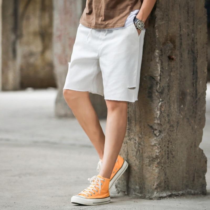 Workwear Denim Shorts Men 2019 Summer Loose-Fit Chao Liu Ku