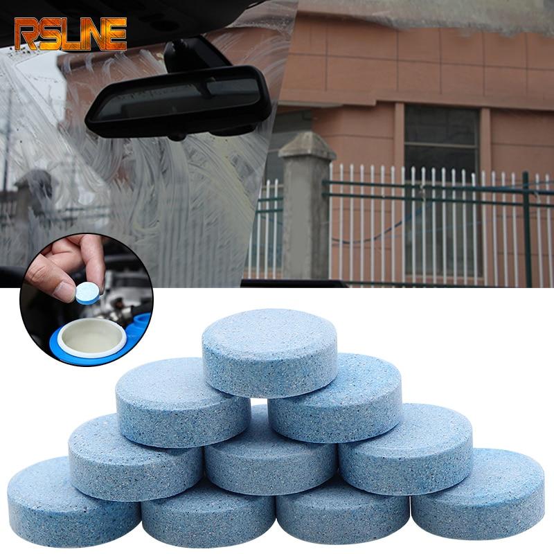 10PCS (1PCS=8L Water) Car Solid Wiper Fine Seminoma Wiper Auto Window Cleaning Car Windshield Glass Cleaner Car Accessories