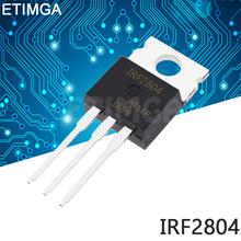 10 sztuk partia IRF2804 TO-220 IRF2804PBF TO220 n-kanałowy efekt pola tanie tanio CN (pochodzenie) Nowy Tranzystor polowy Przez otwór