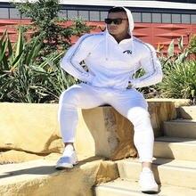 Пуловер с капюшоном для фитнеса мужская тренировочная куртка