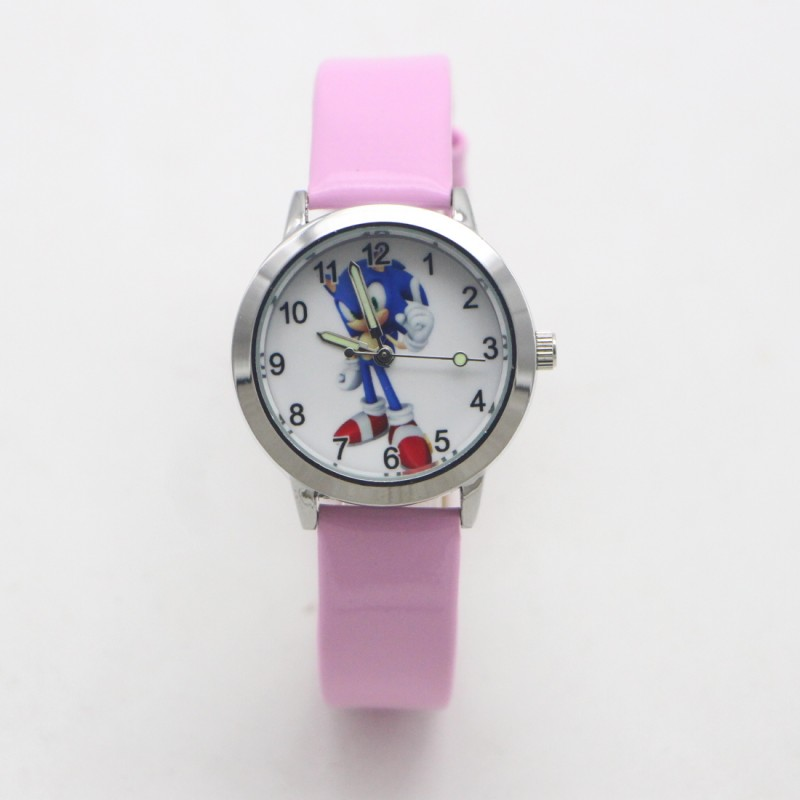 New Arrival Fashion Kids Cartoon Sonic Lovely Watch Children Student Girls Boys Candy Watches Reloj Mujer Kol Saati Feminino