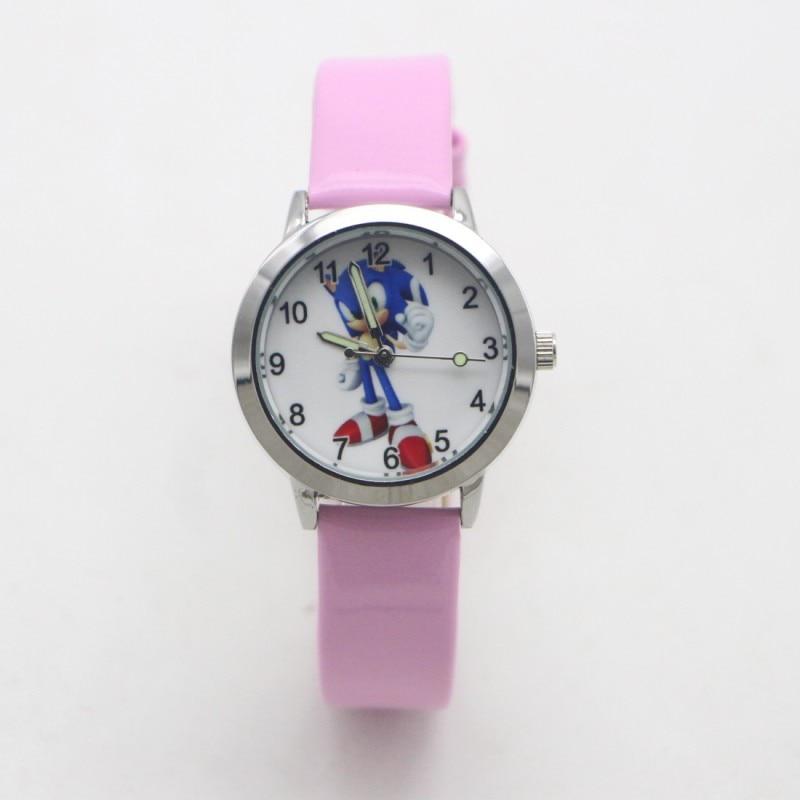 Nova chegada moda crianças dos desenhos animados sonic adorável relógio crianças estudante meninas meninos doces relógios reloj mujer kol saati feminino