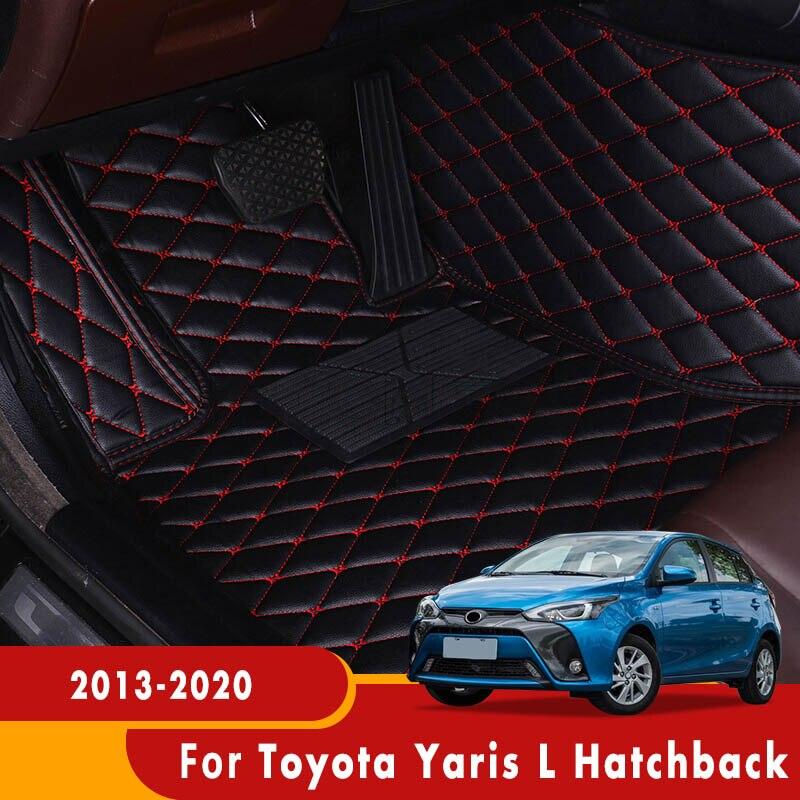 pour toyota yaris l hatchback 2013 2014 2015 2016 2017 2018 2019 2020 tapis de sol de voiture accessoires de tapis decoratifs personnalises
