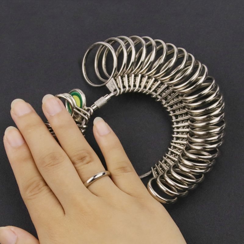 EU/JP/KR/UK Useful Standard Jewelry Measuring Tool Rings Size Metal Finger Ring Sizer Measure Gauge