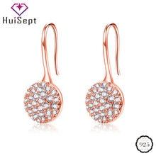 Huisept 925 серебряные ювелирные изделия серьги круглой формы