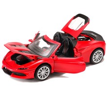 Hot Sell 1:32 Alloy Car Model Diecast Sound Light Pull Back Door Toy for Children Hot Toy Car Hot-Wheel Toy 1 32 high simulation alloy model car mustang car model toys 2open the door hot sell diecast metal toy vehicle free shipping