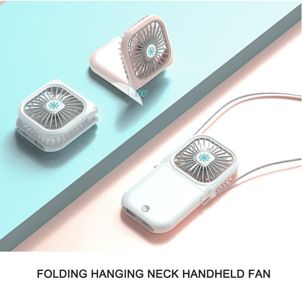 Portable Mini Fan Handheld Fan Home Office Desk Speed Adjustable USB Rechargeable Fan Air Cooler Outdoor Travel