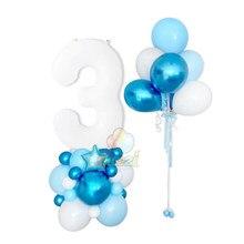 40 polegada branco folha balões de hélio no.12 3 digital globos ballon aniversários decorações da festa de aniversário do casamento chuveiro do bebê crianças