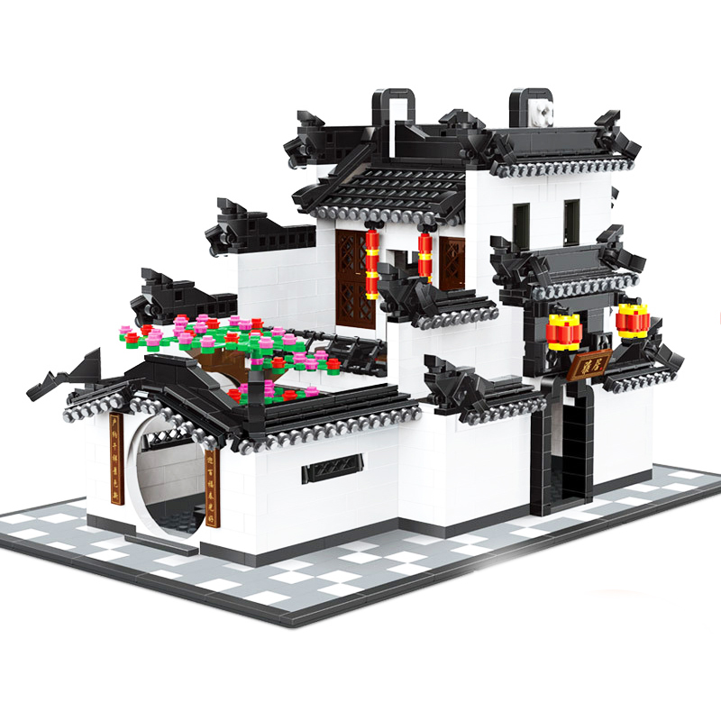 WANGE 5310 Building Blocks CHINA HUI-STYLE Architecture 1575pcs DIY Bricks Educational Funny Kids Toys For Children