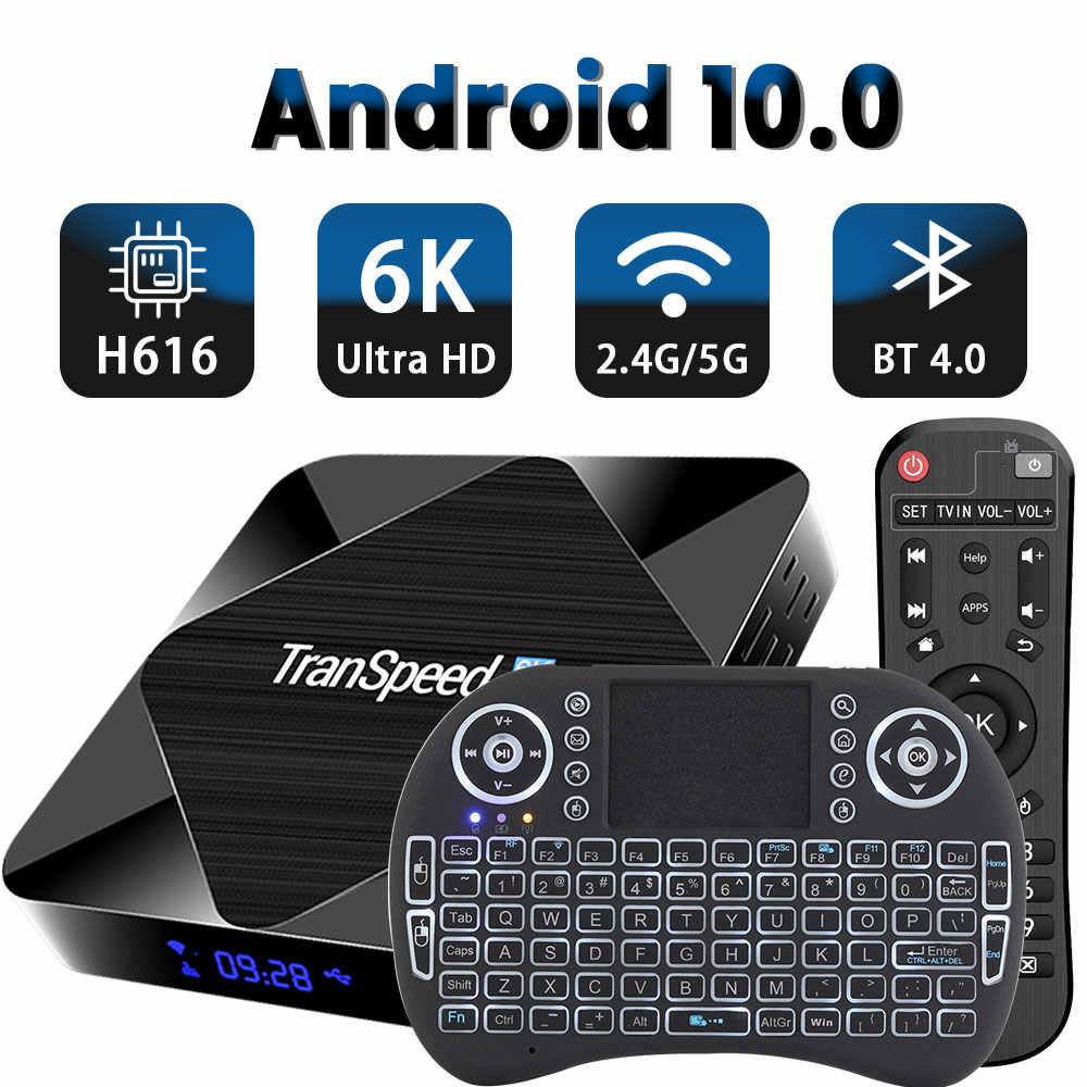 Android TVกล่องAndroid 10 2.4G 5GHz WIFI Bluetooth 4GB 32GB 64GB 6K 3D 1080P Media Playerกล่องทีวีSet TOP BOX