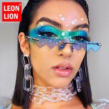 Солнечные очки leonlion без оправы в стиле панк для мужчин и
