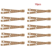 10Pcs Face Mask Windproof Lanyard with Snap Button Leopard Camouflage Ribbon Mouth Cover Holder Strap Extension Rope