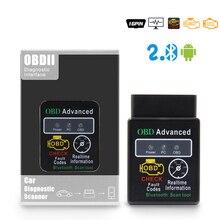 V1.5 OBD2 ELM327 Bluetooth HH Obd V2.1 ELM 327 Version1.5 OBD2 / OBDII Cho Android Mô Men Xoắn Xe Công Cụ Chẩn Đoán Tự Động mã