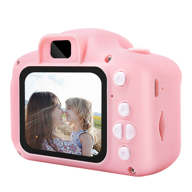 8 Million Pixel 2 Inch HD Screen Rechargeable Digital Mini Camera Kid Cartoon Cute Camera Toy Outdoor Photography Props Childre