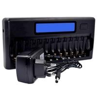 ABKK Intelligent Battery Charger Lcd Display Speedy Smart Charger 12 Battery Slots For 1.2V Ni Mh Ni Cd Aaa Aa Batteries(Eu Plug