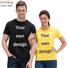 Customize your own logo T-shirt printing logo/picture/logo men and women casual cotton short-sleeved shirt T-shirt