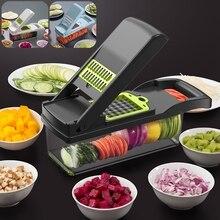 Multifunctional Vegetable Cutter Shredders Slicers Fruit Potato Peeler Carrot Grater Kitchen Accessories Basket Vegetable Slicer