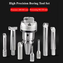 Noioso 8 320 millimetri di alta Precisione 0.005 NBH2084 testa Boring boring testa BT40 NBH2084X con 7Ppcs XBJ barre di alesatura CNC utensili di foratura