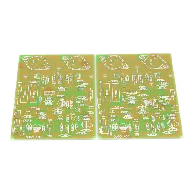 Ücretsiz kargo GZLOZONE çoğaltma QUAD405 altın mühür güç amplifikatörü kurulu PCB AMP (çift)