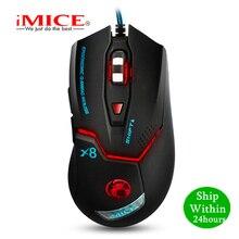IMICE Professional przewodowa mysz do gier 3200dpi mysz optyczna usb 6 przycisków mysz komputerowa mysz dla gracza na PC Laptop X8