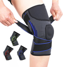 Sports Protective Gear Support Silicone Spring Pressure Knee Pads Breathable Basketball Climbing Knee Protector Sleeve-Sized B
