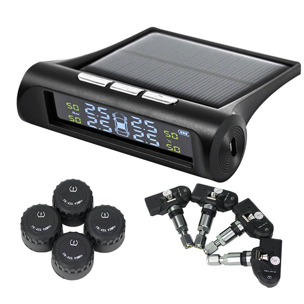 TPMS צמיג לחץ ניטור מערכת עבור רכב משאית SUV שמש או USB מופעל עם חיצוני וחיישנים פנימיים 6 מעורר מצבים