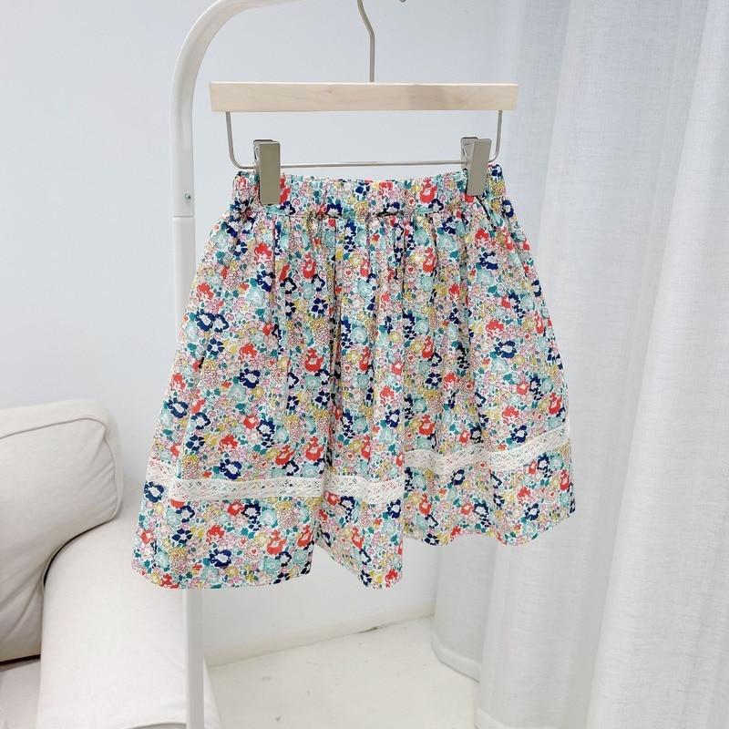 summer dress 2021Girls Skirt Floral Print Sweet Girls Skirt Summer 100% Cotton New floral dress tutu skirt for baby girl