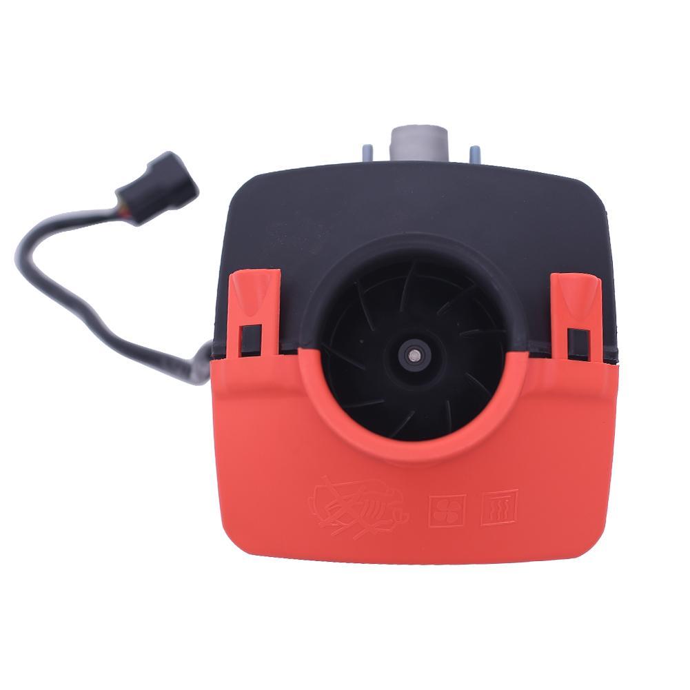 12V 5000W Monitor LCD Ar Diesel Aquecedor De Combustível Único Furo 5KW Veículos de Carga Vans Carros De Bateria de Armazenamento Remoto silenciador de controle - 5