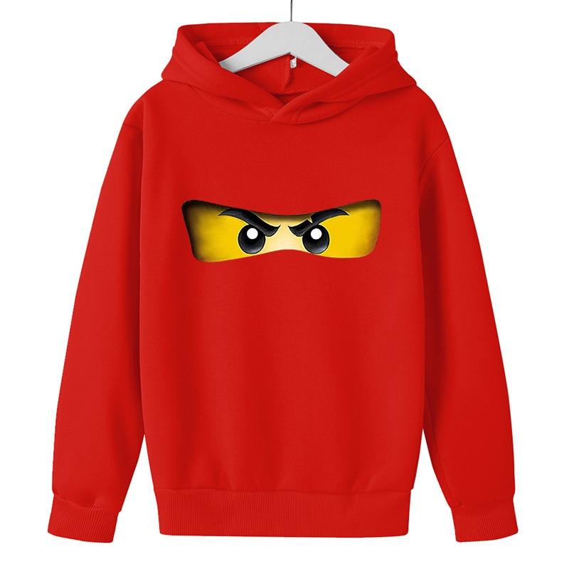 Boy hoodie 2021 Autumn winter Kid Legoes Ninjago Sweatshirt Cotton Top Girl Long sleeve Pullover Children 5-14y Hip hop clothes 6