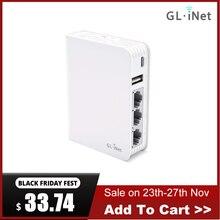 GL.iNet AR750 נסיעות AC נתב 300Mbps(2.4G)+ 433Mbps(5G) wi Fi 128MB RAM MicroSD אחסון OpenWrt תמיכה/LEDE מותקן מראש