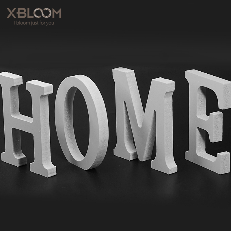 Wooden English Letters 10.5 CM White Letter Decoration Ornaments Photo Props Birthday Party Wedding Decoration Store Logo Name