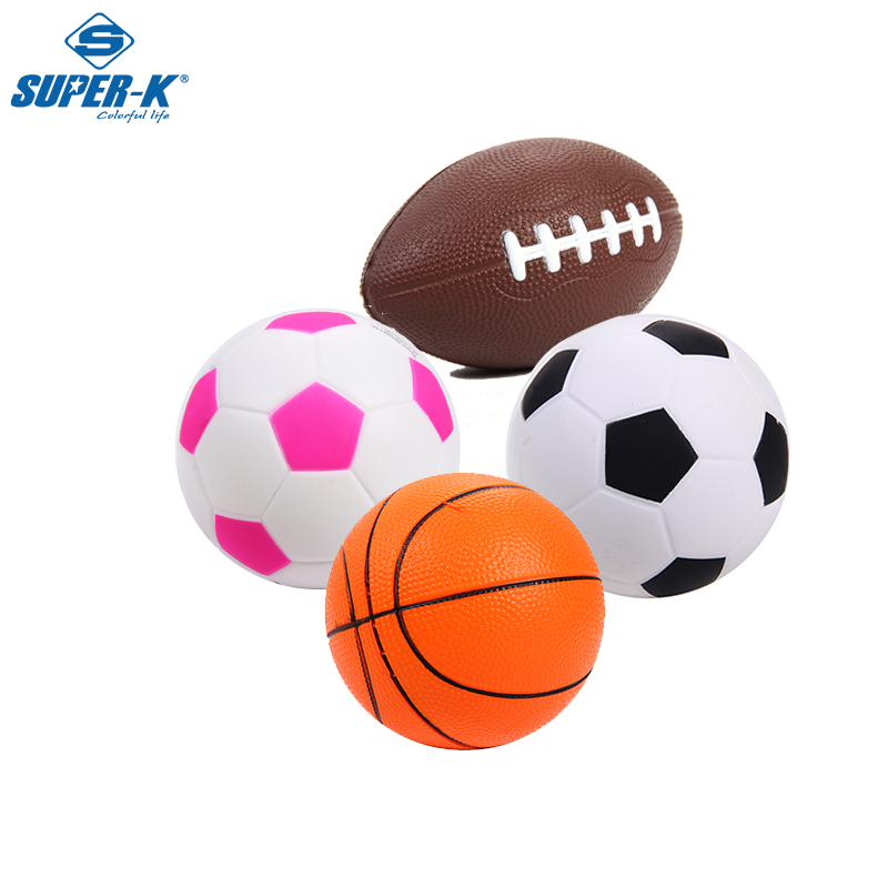 Soft PU Foam 12.5cm Mini Hoop Indoor Basketball Sponge Stress Ball Kids Safe Toy