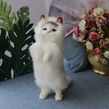 Simulation Animal Lucky Cat Doll Children Plush Pet Cat Model Decoration Static Model Decoration