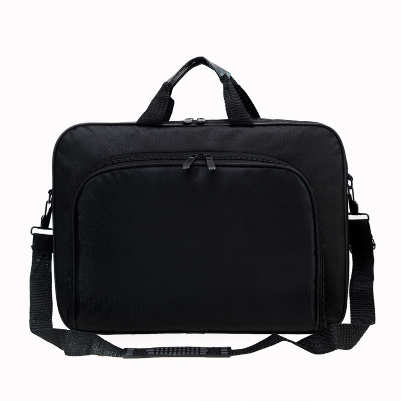 Water Proof Simple Business Men Briefcases Nylon Computer Bag Portable Handbags Zipper Messenger Bags For Laptop