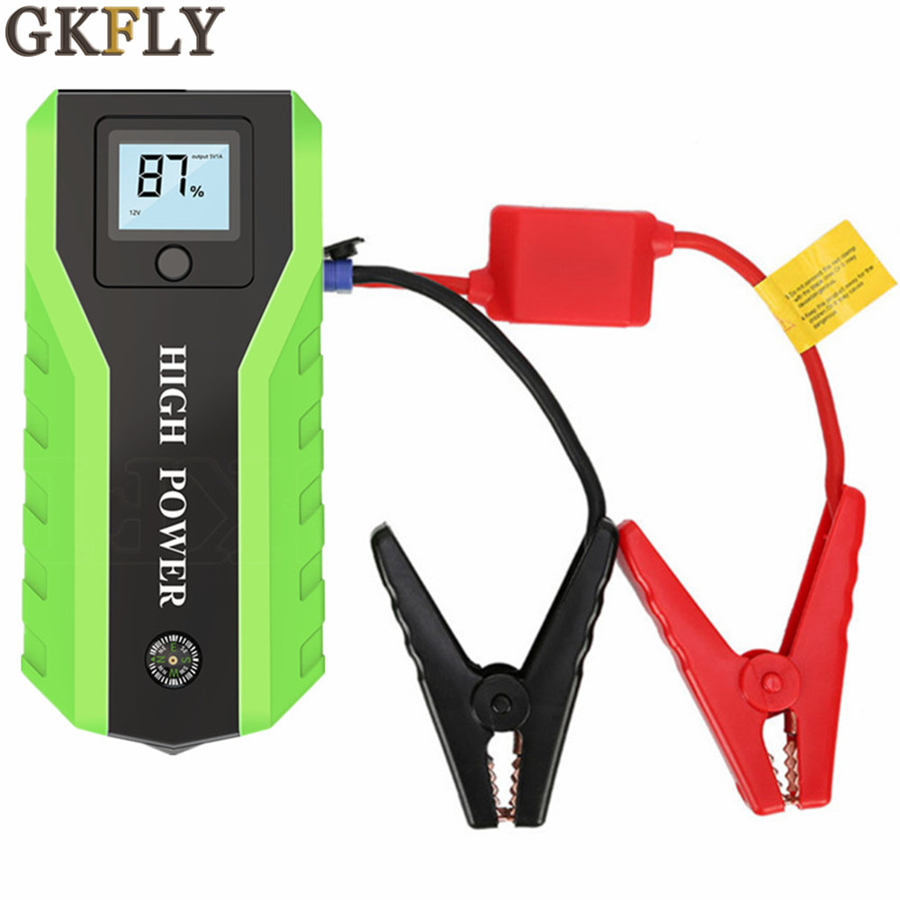 GKFLY Emergency Starting Device Car Jump Starter Power Bank 12V Car Charger For Car Battery Charger Booster Buster