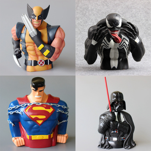 20 см супергерой Капитан Америка, Бэтмен, Супермен, копилка, игрушка, мультфильм, копилка, монеты, коробка для хранения, кукла, детский подарок...