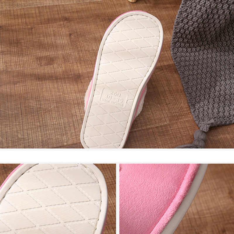Женские домашние тапочки; Сезон Зима; большие размеры 43-45; замшевые удобные меховые тапочки с буквенным принтом для женщин; короткие плюшевые домашние тапочки для женщин