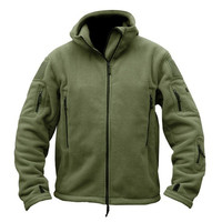 Military Soft shell jacket Men Fleece Thermal hooded Tactics coat outdoor Multi pocket camping Polar outerwear New Army clothing