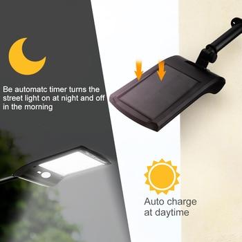 1/2/4pcs Outdoor 36 LED Solar Power Light Waterproof LED Solar Light With PIR Motion Sensor Solar Street Lamps For Garden Path