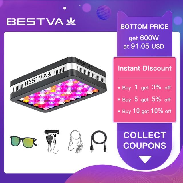 מקורי BestVA LED לגדול אור ספקטרום מלא COB עלית 600W 1200W 2000W Phytolamp עבור צמחים מקורה לגדול אוהל חממה צמחים