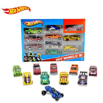 Hot Wheels track ESS BSC 10-Car Pack 1 64 Mini Model samochodu dzieci zabawki dla dzieci Diecast Brinquedos Hotwheels prezent urodzinowy 54886 tanie i dobre opinie Metal 3 lat 1 20 Samochód Educational Wind Up Slot Mini Pull Back