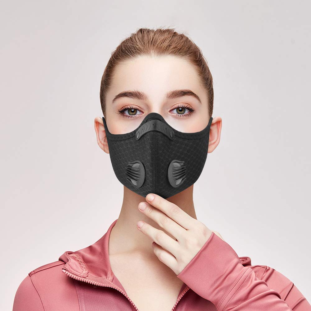 CoolChange KN95 PM2.5 Coronavirus Dust Mask Activated Carbon With Filter Anti-Pollution Cycling Sport Bicycle MTB Bike Face Mask