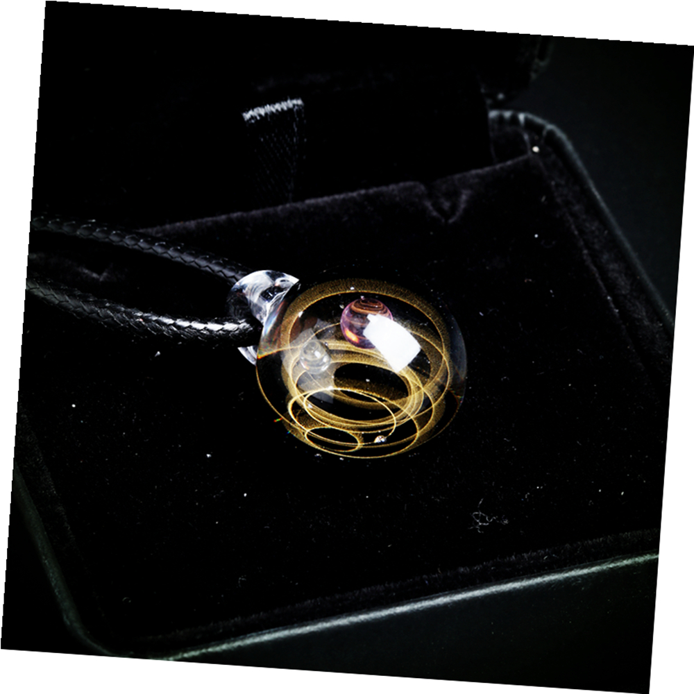 Nebula Galaxy Double Sided Pendant Necklace Glass Art Picture Handmade Statement Universe Planet Jewelry Necklace for Women