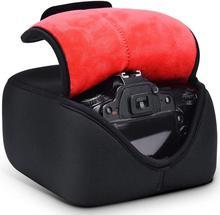 Dslr slr mirrorless câmera capa com proteção de neoprene para nikon canon pentax sony panasonic olympus fujifilm