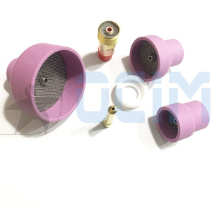 Image 2 - tig welding torch Ceramic Nozzle Cups +Strainer Mesh+Collet+Gas Lens For WP9/20