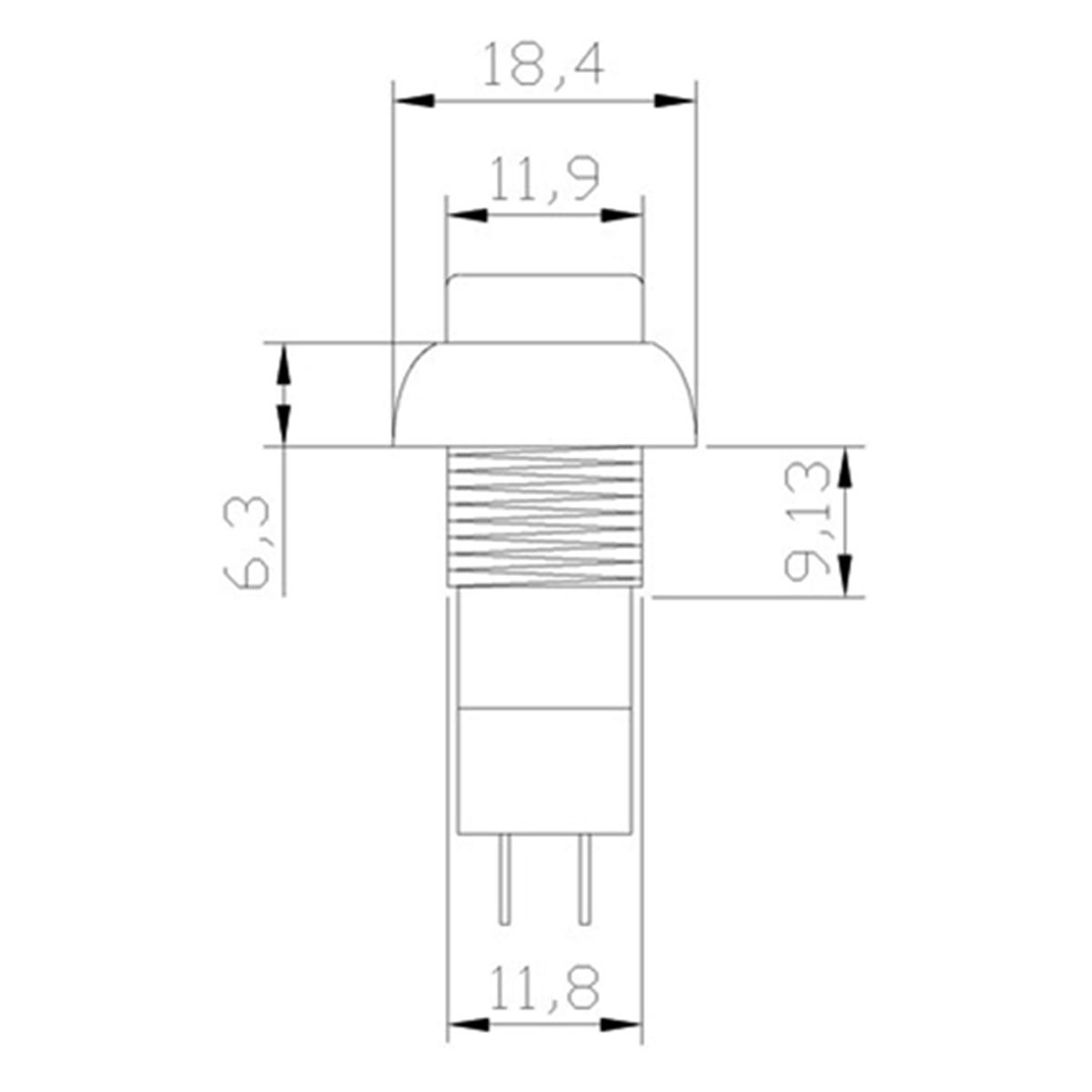 1 шт. PBS-11A PBS-11B 12 мм, самофиксирующиеся самовосстановления Пластик кнопочный переключатель мгновенного 3A 250V AC 2PIN 6 видов цветов