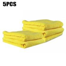 5 unids/set toalla 40x40cm 300GSM microfibra coche secado trapo limpiador de lavado paños toalla