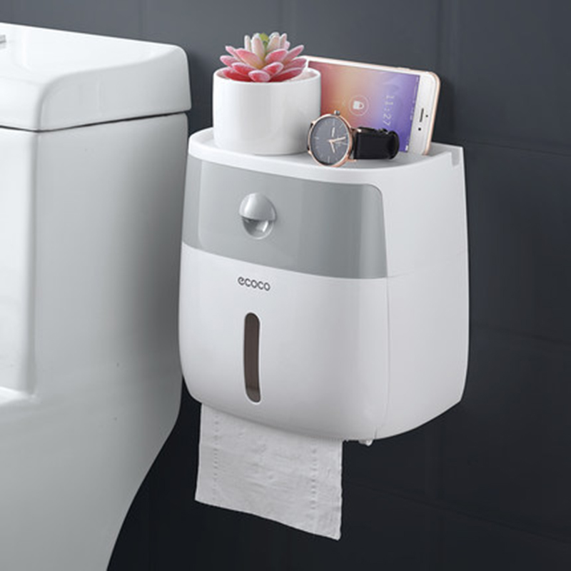 Wall Mounted Toilet Paper Holder Plastic Dispensers Multi Creative Toilet Roll Holder Bathroom Double Paper Tissue Box