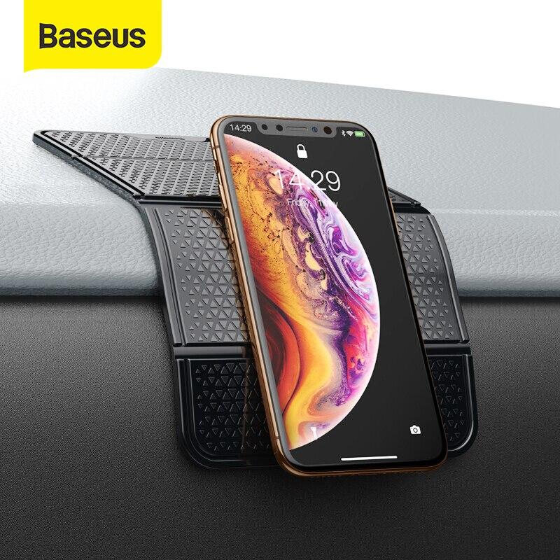 Soporte de teléfono para coche Baseus, soporte de teléfono móvil Universal para pared, adhesivo de escritorio, soporte de teléfono de montaje de goma Nano multifuncional para coche