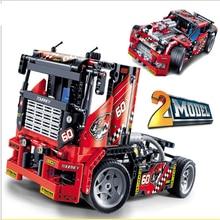 Decool 3360 Race Truck Car 2 In 1 Transformabl Compatible Lepining Technic Building Blocks Bricks Kids DIY Toys Gifts 608Pcs цена 2017